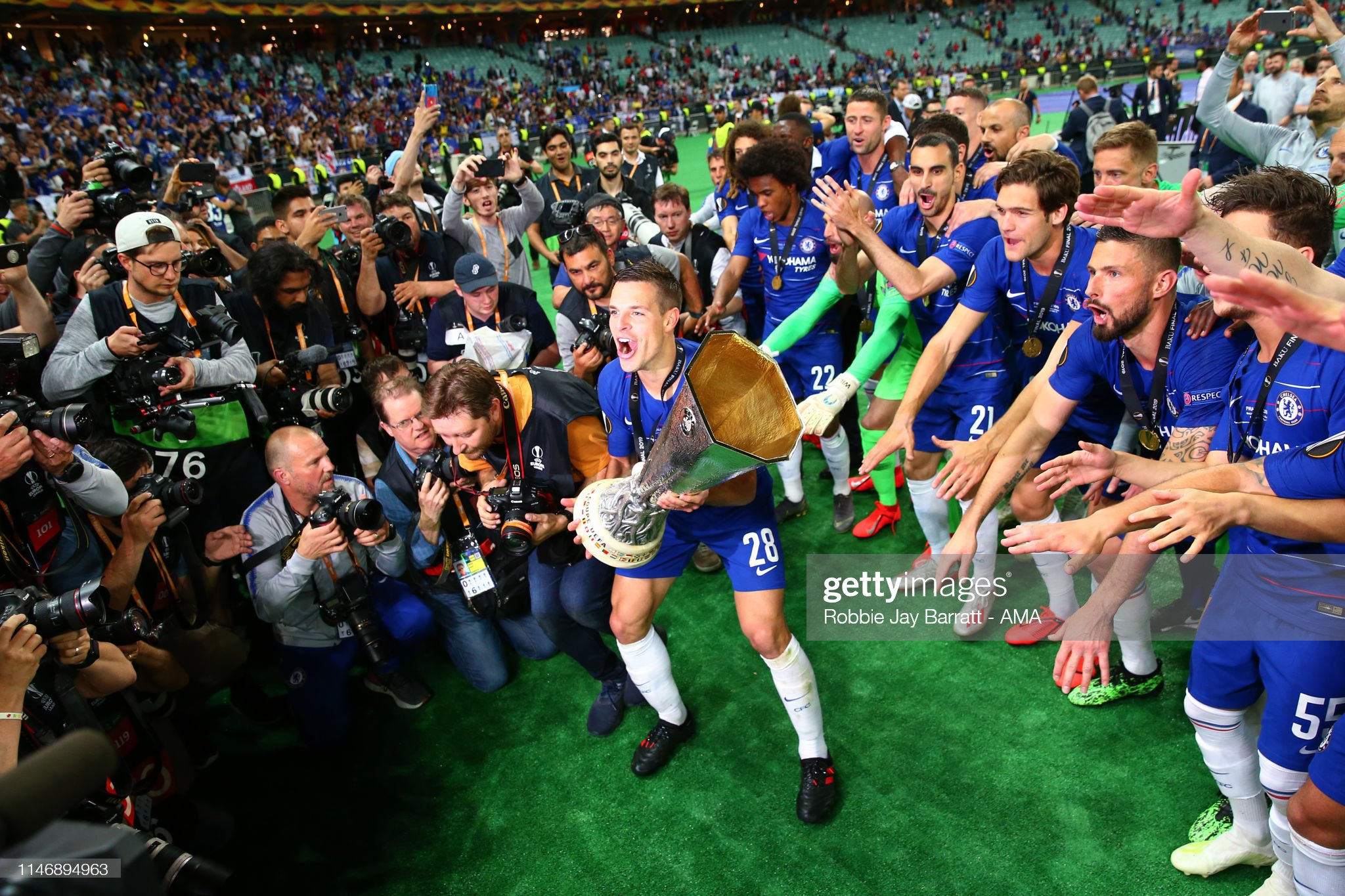 Chelsea v Arsenal - UEFA Europa League Final : News Photo