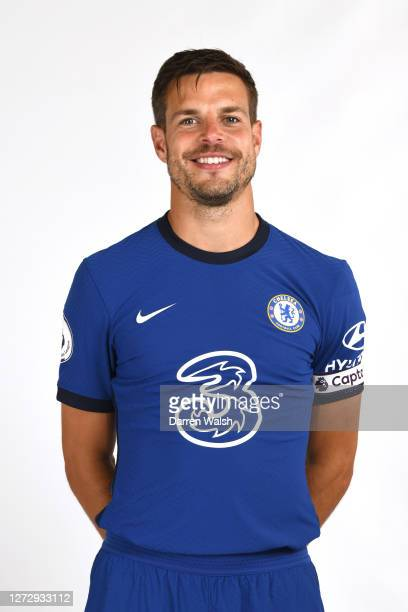 Cesar Azpilicueta of Chelsea during a Chelsea Media Day at Chelsea Training Ground on September 11, 2020 in Cobham, England.