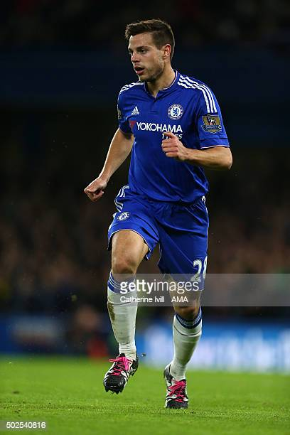 Cesar Azpilicueta of Chelsea during the Barclays Premier League match between Chelsea and Watford at Stamford Bridge on December 26 2015 in London...