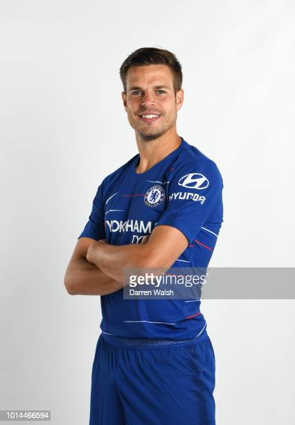 Cesar Azpilicueta of Chelsea during the Media Access Day at Chelsea Training Ground on August 9 2018 in Cobham England
