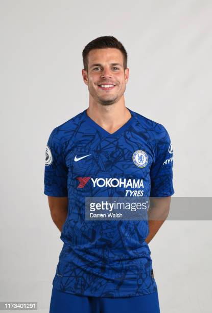 Cesar Azpilicueta of Chelsea during the media open day at Chelsea Training Ground on July 29, 2019 in Cobham, England.