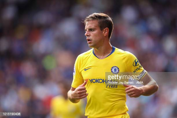 Cesar Azpilicueta of Chelsea during the Premier League match between Huddersfield Town and Chelsea FC at John Smith's Stadium on August 11 2018 in...