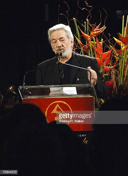 Cesar Camargo Mariano speaks at the Latin Recording Academy presentation of the Lifetime Achievement Awards on November 1 2006 in New York City...
