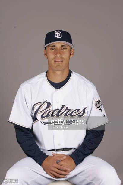 Cesar Carrillo of the San Diego Padres during photo day at Peoria Stadium on February 26 2006 in Peoria Arizona