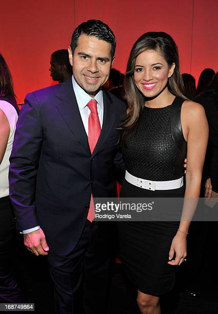 Cesar Conde and Pamela Silva Conde attend 2013 Univision Upfront lunch at Espace on May 14 2013 in New York City