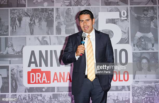 Cesar Conde speaks at Dra Ana Maria Polo 15th Anniversary Celebration at SLS Miami on September 13 2016 in Miami Florida