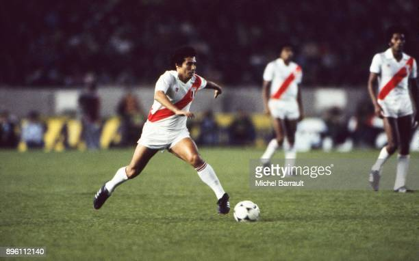Cesar Cueto of Peru during the International Friendly match between France and Peru at Parc des Princes in Paris on April 28th 1982