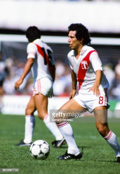 Cesar Cueto of Peru during the World Cup match between Italy and Peru at Balaidos Stadium Vigo Spain on 18h June 1982