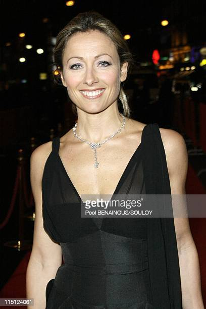Cesar Film Awards 2009 Arrivals in Paris France on February 27 2009 Anne Sophie Lapix