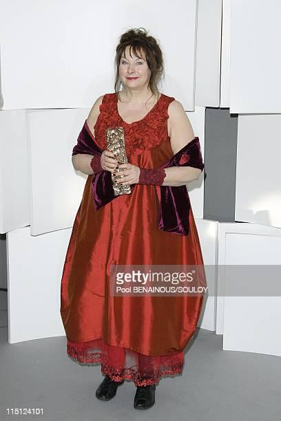 Cesar Film Awards 2009 Awards room in Paris France on February 27 2009 Yolande Moreau