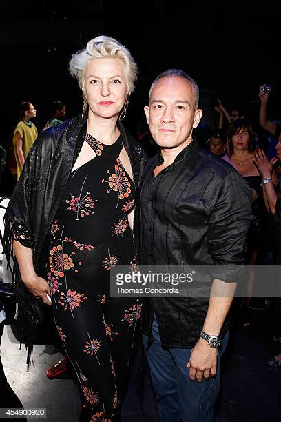 Cesar Galindo and Mariana Verkerk at the CZAR by Cesar Galindo Spring 2015 presentaion during Mercedes Benz Fashion Week on September 7, 2014 in New...
