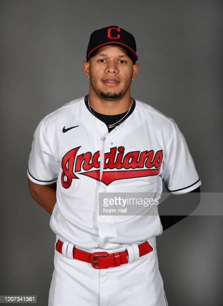 Cesar Hernandez of the Cleveland Indians poses during MLB Photo Day on February 19 2020 in Goodyear Arizona