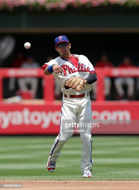 Cesar Hernandez of the Philadelphia Phillies during a game against the St Louis Cardinals at Citizens Bank Park on June 20 2018 in Philadelphia...
