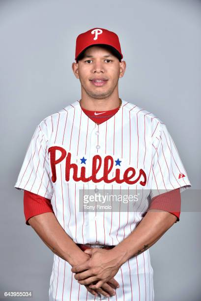 Cesar Hernandez of the Philadelphia Phillies poses during Photo Day on Monday February 20 2017 at Spectrum Field in Clearwater Florida