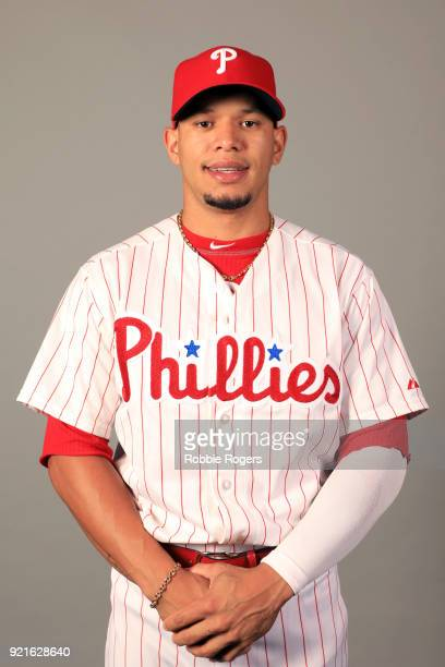 Cesar Hernandez of the Philadelphia Phillies poses during Photo Day on Tuesday February 20 2018 at Spectrum Field in Clearwater Florida