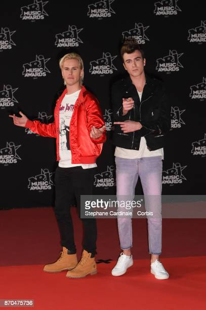 Cesar Laurent de Rummel and Dorian Lauduique from 'Ofenbach' DJs band attend the 19th NRJ Music Awards on November 4 2017 in Cannes France