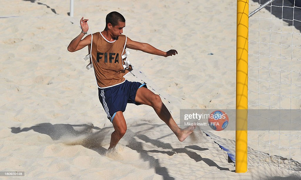 Cesar Leguizamon of Argentina in action during a training session at the To'ata Stadium on September 17, 2013 in Papeete, French Polynesia.