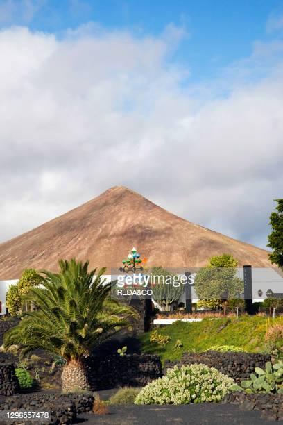 Cesar Manrique's former house. The garden and a mobile sculpture. Taro de Tahiche. Lanzarote. Canary Islands. Spain.