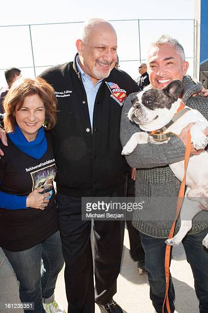 Cesar Millan and Councilman Dennis Zine attend Cesar Millan and Carrie Ann Inaba team up for National Spay and Neuter Month at Salesian Boys and...