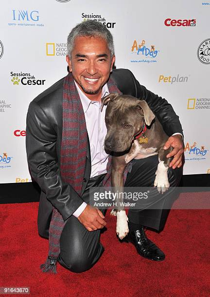 Cesar Millan attends an evening in support of the North Shore Animal League America at Tribeca Cinemas on October 8, 2009 in New York City.