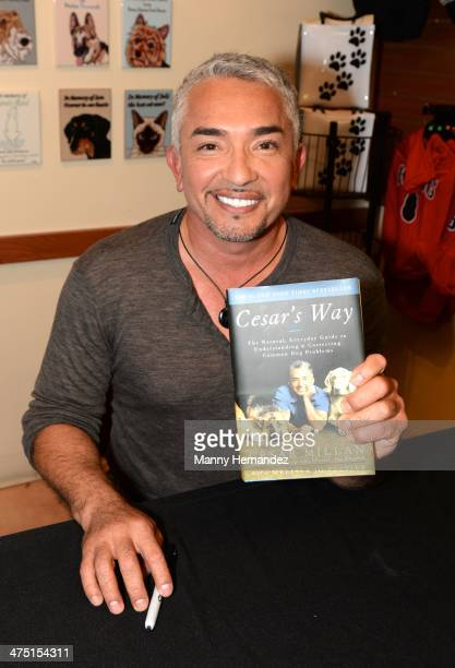 Cesar Millan hosts a pet adoption event at the Humane Society of Greater Miami on February 26, 2014 in Miami, Florida.