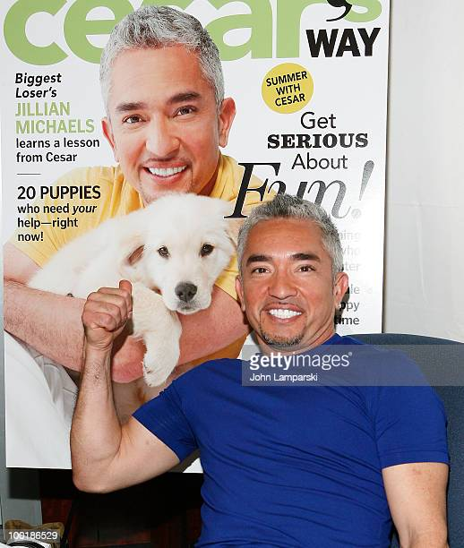 """Cesar Millan promotes """"Cesar's Way"""" magazine at Grand Central Station on May 21, 2010 in New York City."""
