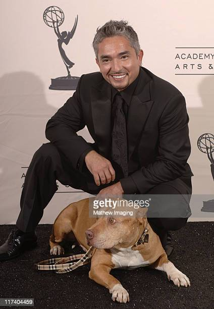 """Cesar Millan, """"The Dog Whisperer"""" during 58th Annual Creative Arts Emmy Awards - Press Room at The Shrine Auditorium in Los Angeles, California,..."""