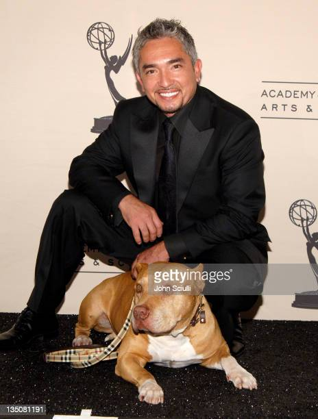 """Cesar Millan, """"The Dog Whisperer"""" during 58th Annual Creative Arts Emmy Awards - Press Room at Shrine Auditorium in Los Angeles, California, United..."""