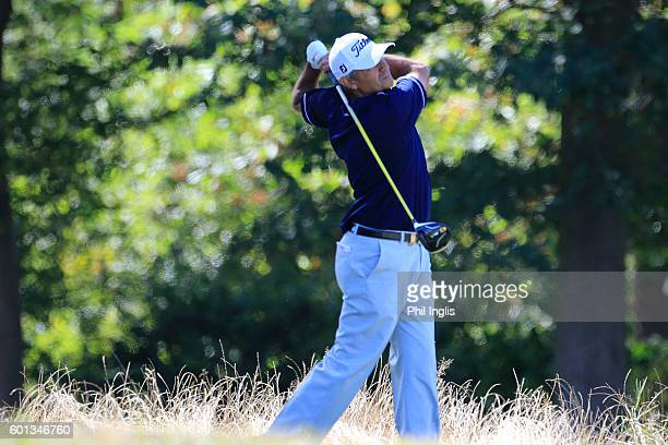 Cesar Monasterio of Argentina in action during the first round of the Paris Legends Championship played on L'Albatros course at Le Golf National on...