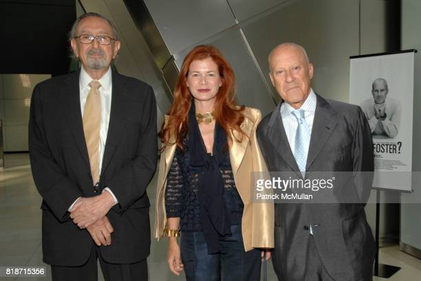 Cesar Pelli Lady Elena Foster and Lord Norman Foster attend Champagne Reception for the New York Premiere of 'HOW MUCH DOES YOUR BUILDING WEIGH MR...