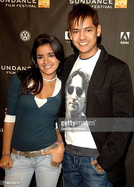 Cesar Ramos and Paulina Gaitan during 2007 Sundance Film Festival Trade Premiere at Eccles Theatre in Park City Utah United States