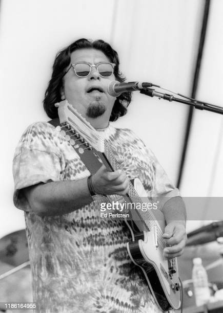 Cesar Rosas performs with Los Lobos at the Further Festival on July 28 1996 in Veneta Oregon