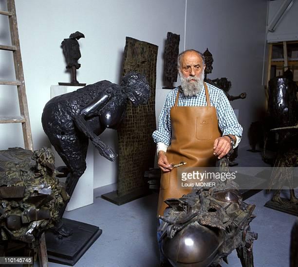 Cesar Sculptor in France in May 1991