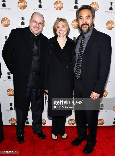 Cesar Velazquez and Peter Demund attend the 46th Annual Annie Awards at Royce Hall UCLA on February 02 2019 in Westwood California