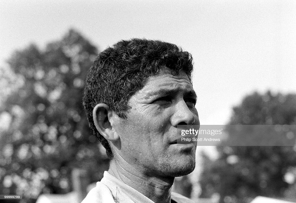Cesar, who crossed the United States - Mexican border illegally over 19 years ago, pauses to rest while working on a small construction project in Annandale, Virginia. Cesar has a wife and two daughters who live in suburban Maryland, and must work long hours to support them.
