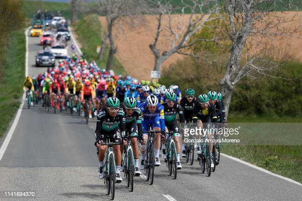 Cesare Benedetti of Italy and Team Bora Hansgrohe / Emanuel Buchmann of Germany and Team Bora Hansgrohe / Remi Cavagna of France and Team Deceuninck...