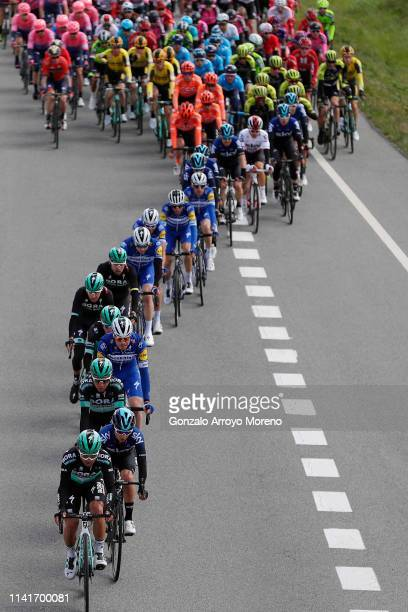 Cesare Benedetti of Italy and Team Bora Hansgrohe / Kenny Elissonde of France and Team Sky / Emanuel Buchmann of Germany and Team Bora Hansgrohe /...