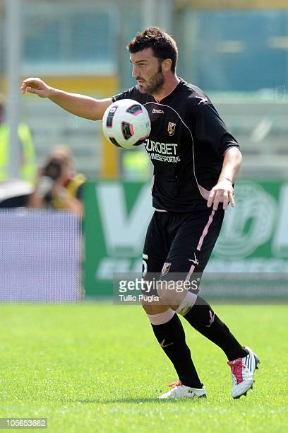 Cesare Bovo of Palermo in action during the Serie A match between Brescia and Palermo at Mario Rigamonti Stadium on September 12, 2010 in Brescia,...