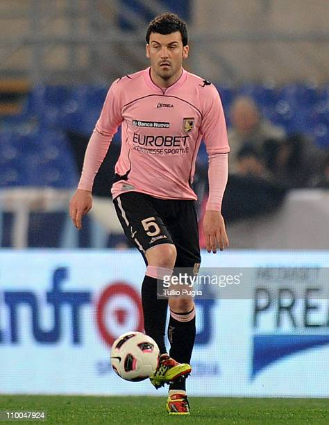 Cesare Bovo of Palermo in action during the Serie A match between SS Lazio and US Citta di Palermo at Stadio Olimpico on March 6, 2011 in Rome, Italy.