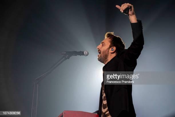 Cesare Cremonini performs onstage at Mediolanum Forum of Assago on December 16, 2018 in Milan, Italy.