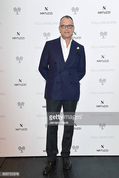 Cesare Cunaccia attends Natuzzi Soul Landscapes on April 12, 2016 in Milan, Italy.