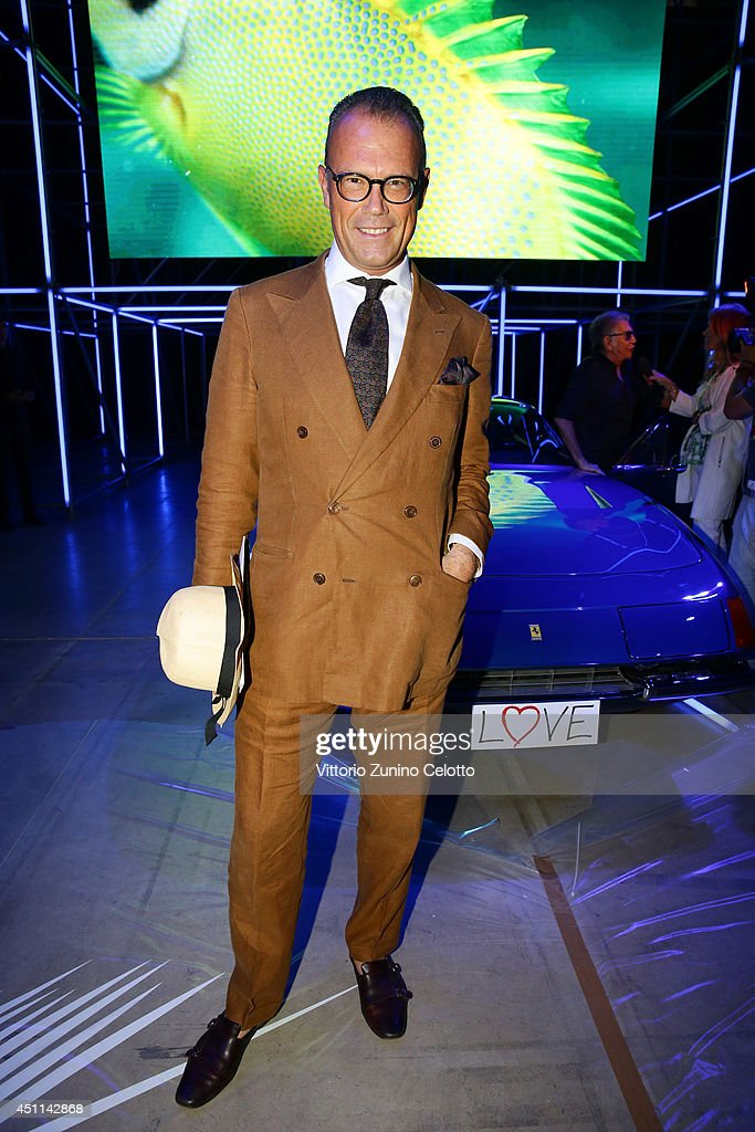 Cesare Cunaccia attends the Roberto Cavalli show during the Milan Menswear Fashion Week Spring Summer 2015 on June 24, 2014 in Milan, Italy.