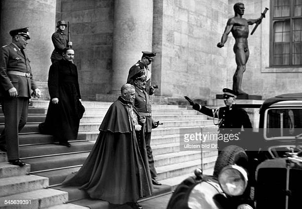 Cesare Orsenigo*13.12.1873-+Priest, ItalyApostolic Nuncio to Germany 1930-1945with Staatsminister Dr. Meissner leaving the Reichskanzlei in Berlin-...