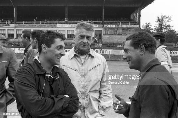Cesare Perdisa, Louis Rosier, Jean Behra, Grand Prix of Germany, Nurburgring, 05 August 1956. Cesare Perdisa, Louis Rosier and Jean Behra, three...