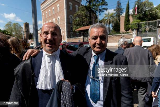 Cesare Placanica President of the Criminal Chamber of Rome and Davood Karimi during the demonstration for the release of Nasrin Sotoudeh the Iranian...
