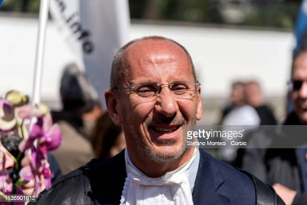 Cesare Placanica President of the Criminal Chamber of Rome during the demonstration for the release of Nasrin Sotoudeh the Iranian lawyer sentenced...
