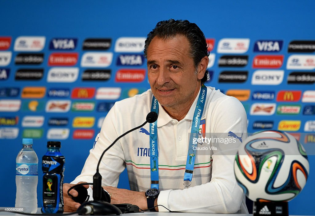 Cesare Prandelli manager of Italy looks on during the Italy press conference before their first match of the 2014 FIFA World Cup Brazil against England at Arena Amazonia on June 13, 2014 in Manaus, Brazil.