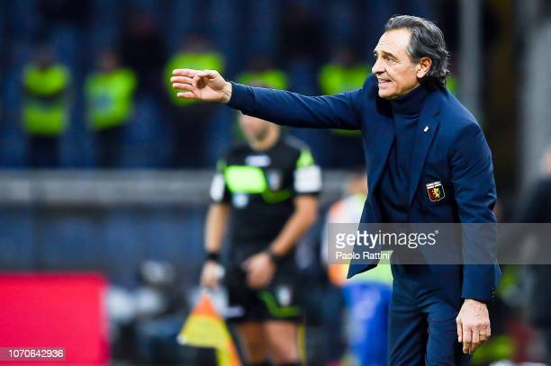 Cesare Prandelli new head coach of Genoa during the Serie A match between Genoa CFC and SPAL at Stadio Luigi Ferraris on December 9 2018 in Genoa...