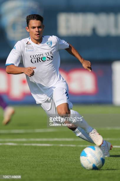 Cesare Pulina of Empoli U17 in action during the match between Empoli FC U17 and ACF Fiorentina U17 on October 14 2018 in Empoli Italy