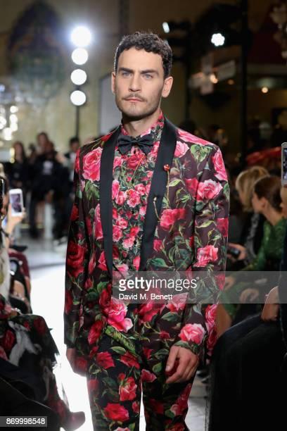Cesare Taurasi walks the Dolce Gabbana Italian Christmas catwalk show at Harrods on November 2 2017 in London England